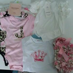 Infant Girl Bundle 4 Piece Juicy Couture Body